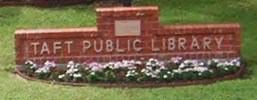 Taft Public Library Logo